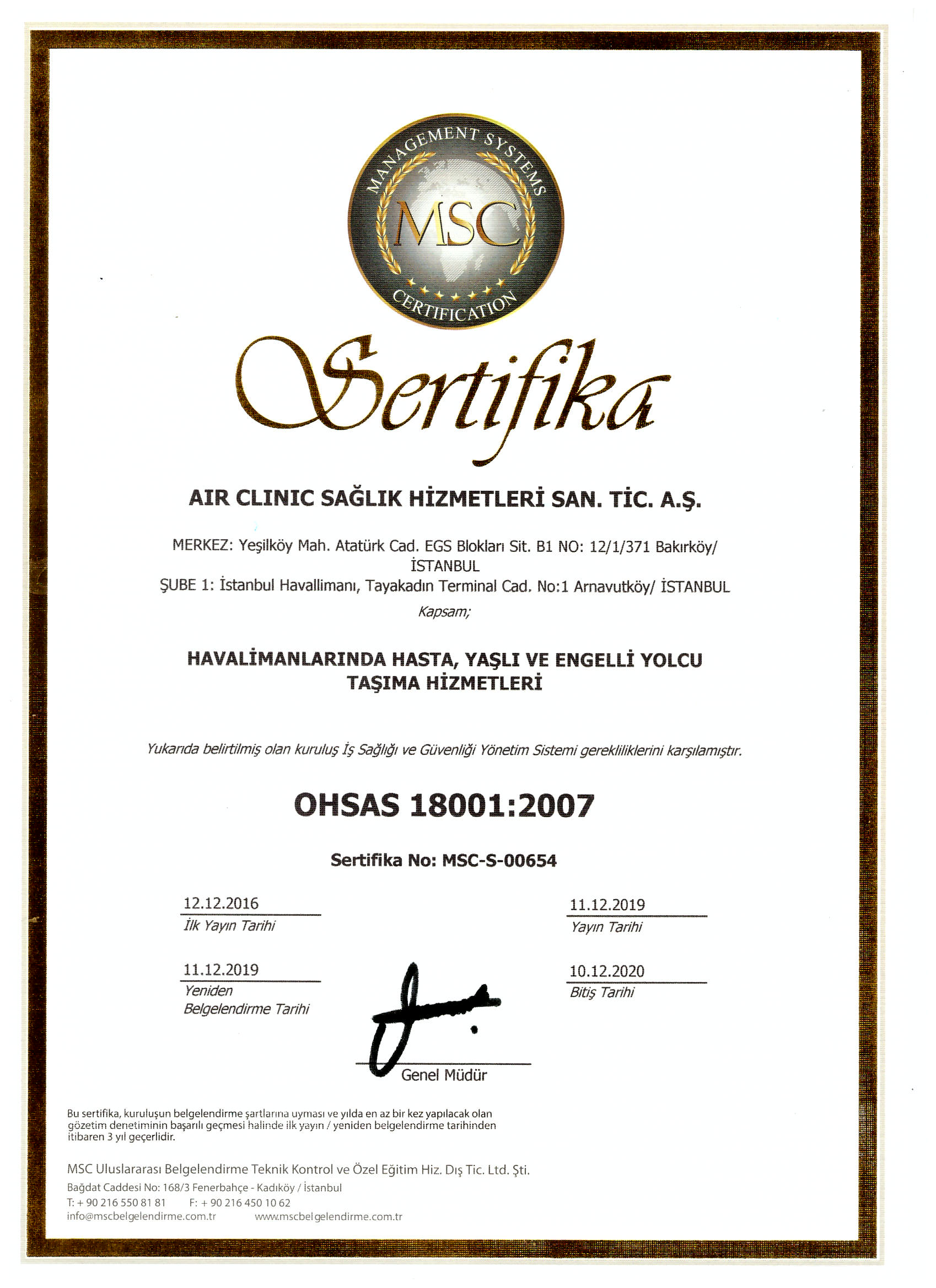 air-clinic-ohsas-180012007 Certificates