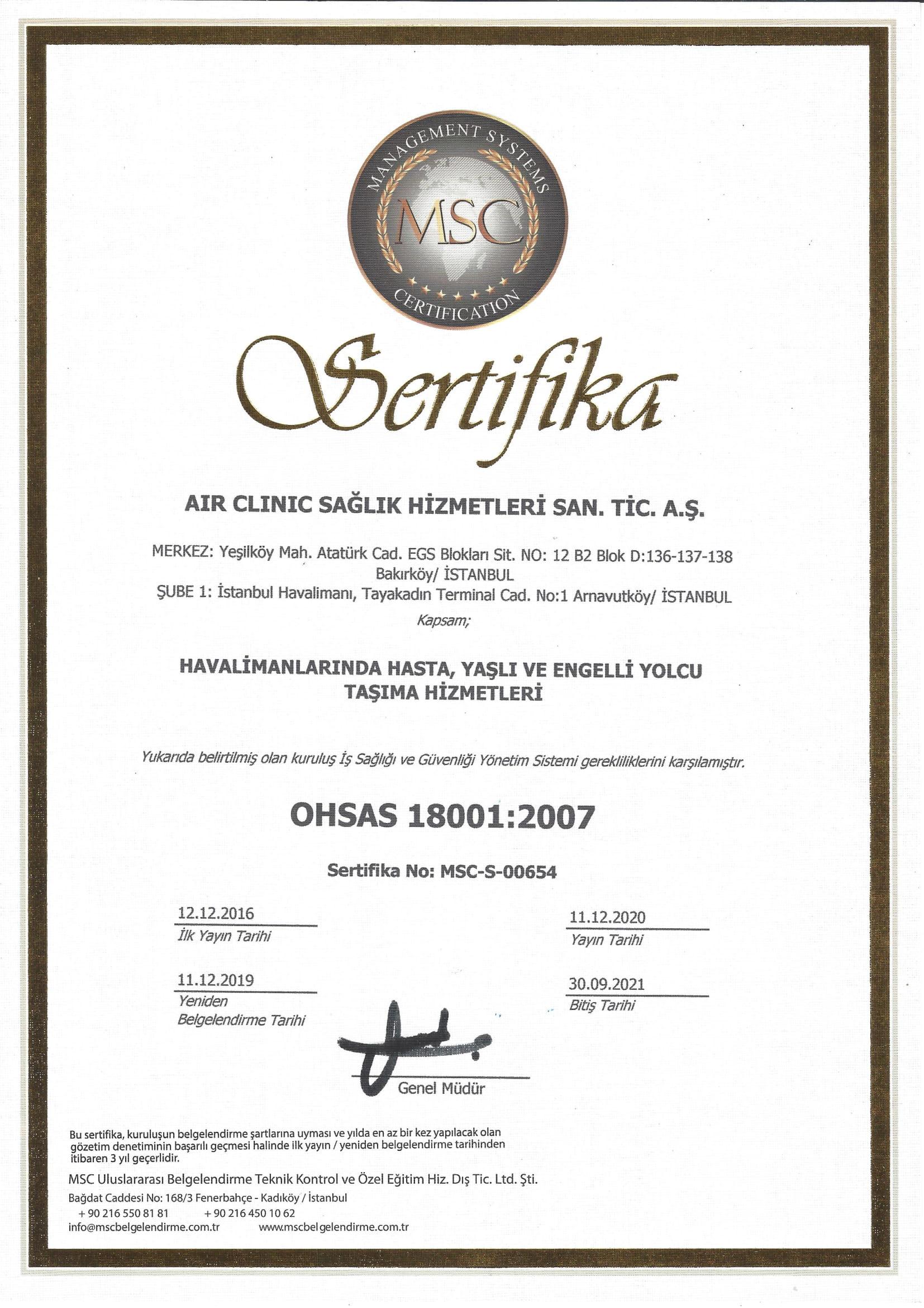 air-clinic-ohsas-180012007-1-2021 Sertifikalar